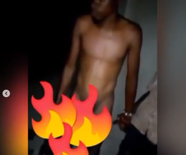 Man caught red-handed having sex with a mentally ill woman inside a classroom in Ghana (Video)