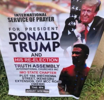 Imo pastor set to hold special prayer for Donald Trump's re-election