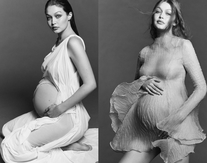 Supermodel, Gigi Hadid Shows off very pregnant belly in stunning maternity photos