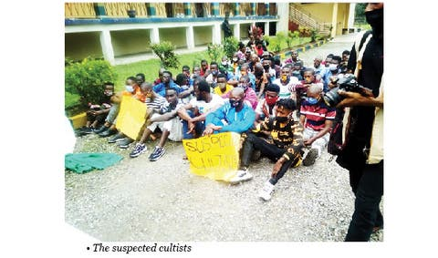 56 suspected cultists apprehended with human skulls in Cross River