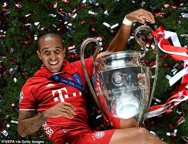 Liverpool and Manchester United target, Thiago Alcantara admits transfer saga could still end with him staying in Germany. Says – 'Bayern is my home and I am happy to be there'