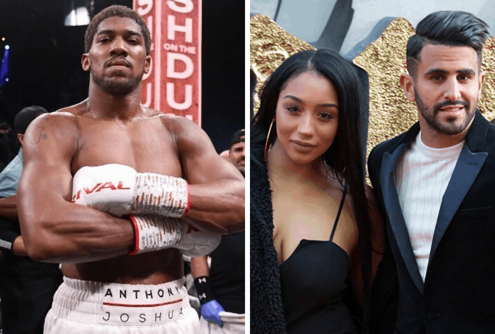Anthony Joshua denies dating wife of Manchester City star, Riyad Mahrez – after allegations that the pair were seen on a night out together