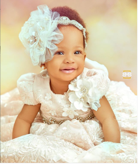 Ex-BBnaija housemate, Teddy A and Bam Bam took to Instagram to share adorable photos of their daughter, Zendaya